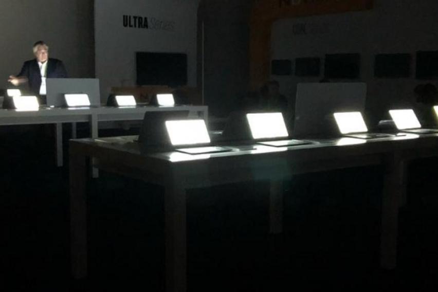 Иронија  На најголемиот саем за електроника снема струја