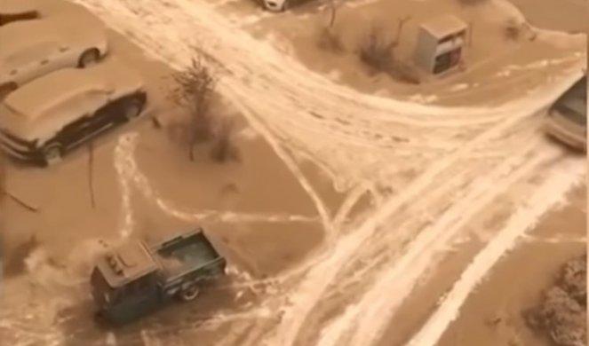 Необичен феномен: Жолт снег ја прекри Кина (ВИДЕО)