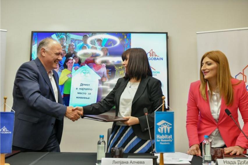 """""""Saint-Gobain Initiatives"""" и Хабитат Македонија започнуваат реализација на проектот """"Реконструкција и енергетска ефикасност на Центарот за помош на лица со ментален хендикеп Порака Неготино"""""""