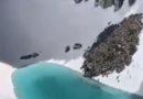 По топлотниот бран, на Алпите се создаде езеро на 3.000 метри надморска височина (ВИДЕО)