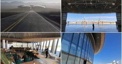 Први фотографии од аеродромот среде пустина (ВИДЕО)