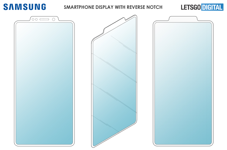 Samsung патентираше екран со превртен notch