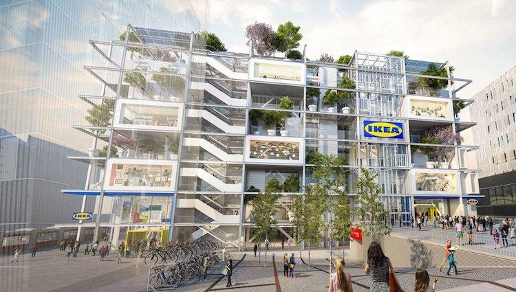 Новата продавница на IKEA во Виена има еколошки покрив и нема паркинг
