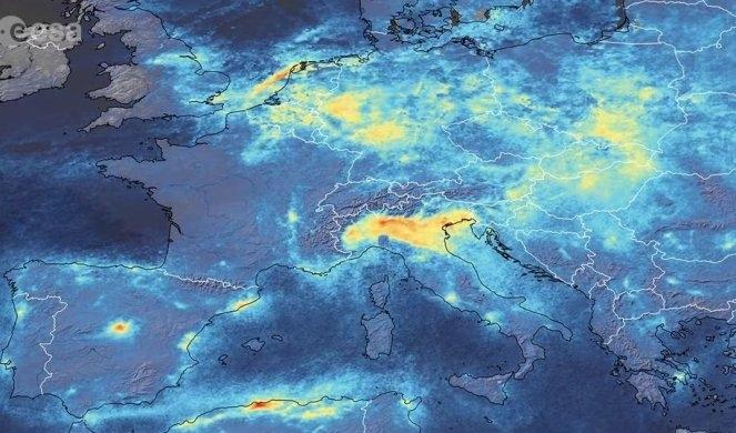 Сателитски снимки покажуваат значително намалување на загадувањето на планетата по појавата на Ковид-19