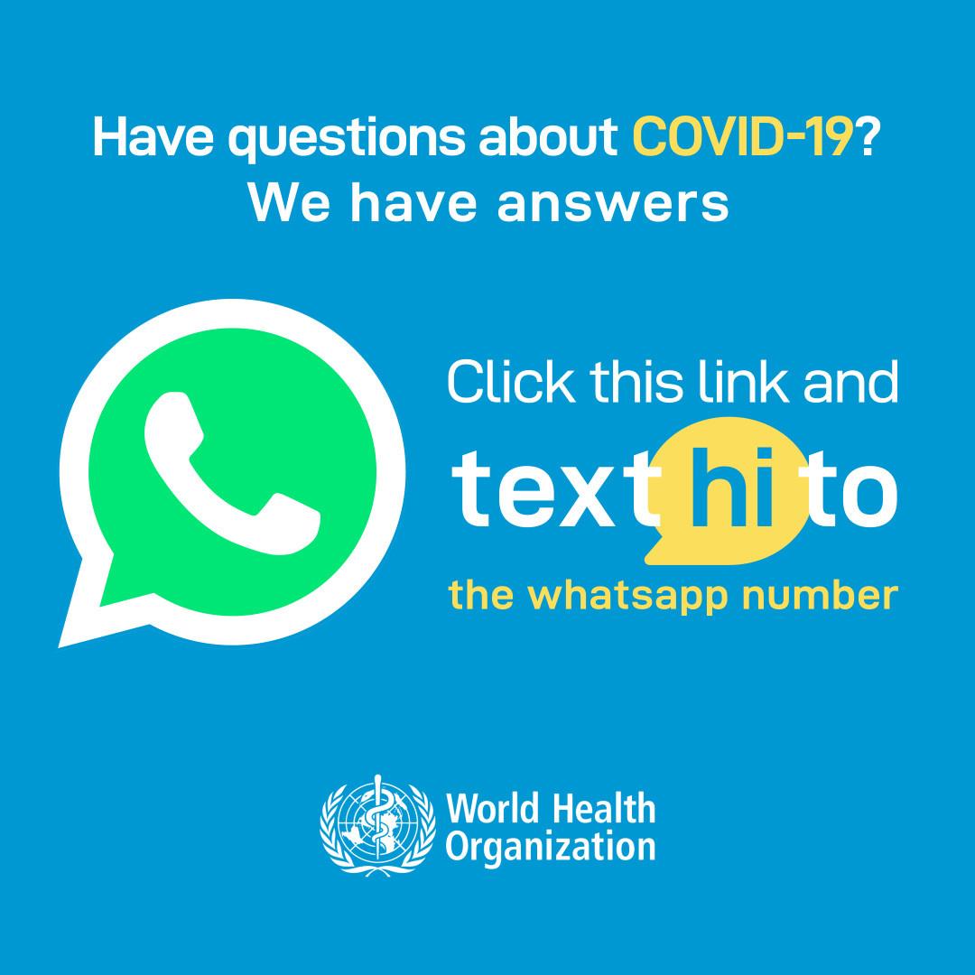 СЗО: Преку WhatsApp ги информираме луѓето ширум светот