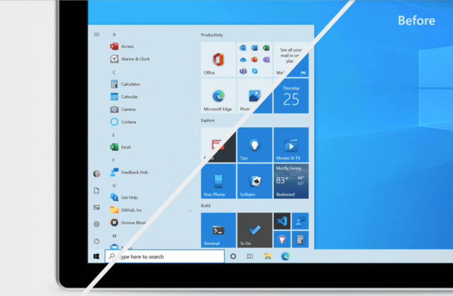 Microsoft тестира ново Start мени за Windows 10