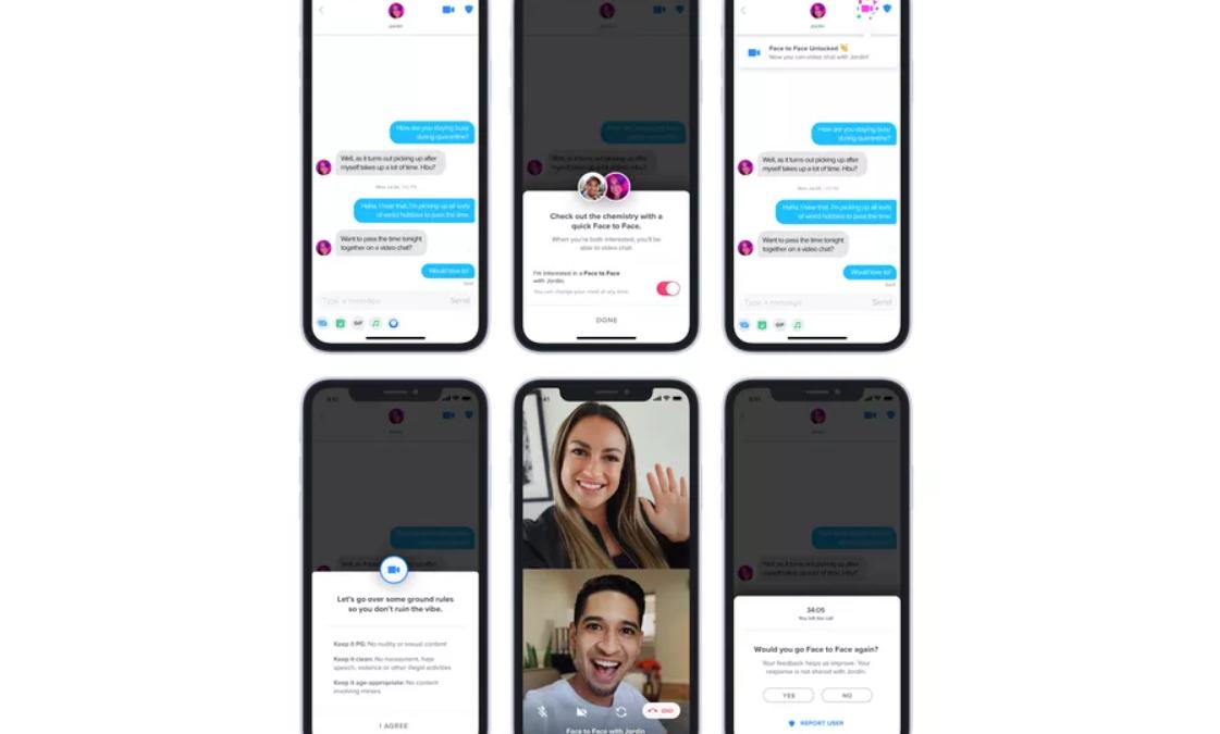 Tinder добива нова Face to Face видео чет опција