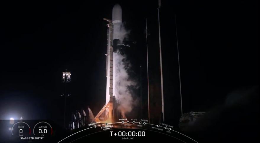 SpaceX лансираше ракета со нови Starlink сателити (ВИДЕО)