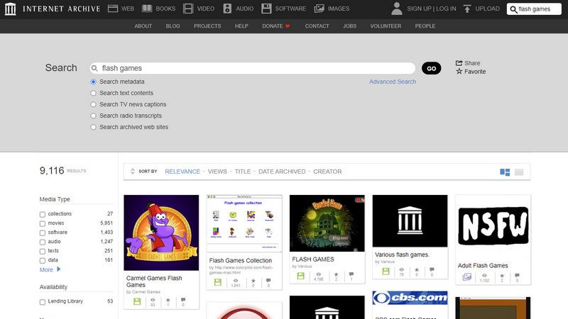 Internet Archive ќе ги сочува Flash игрите и анимации