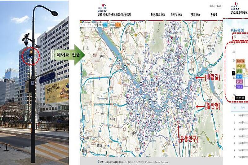 Паметни семафори во Сеул ќе полнат електрични автомобили,  дронови и смартфони