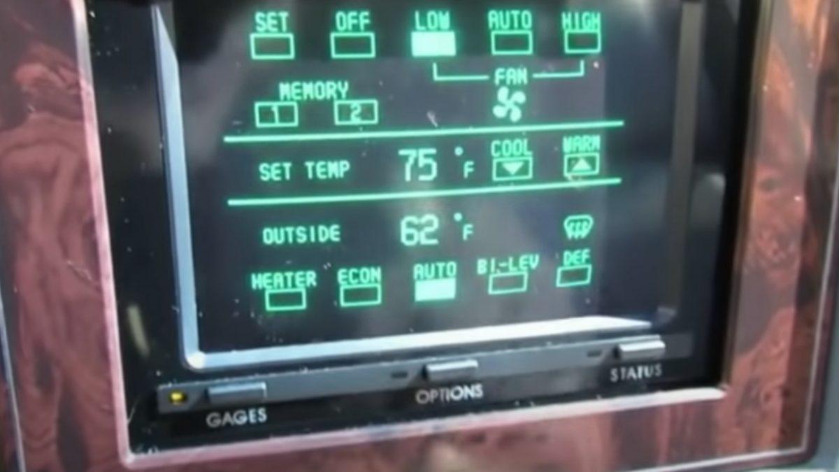 Еден автомобил уште во 1986 година имал екран на допир (ВИДЕО)